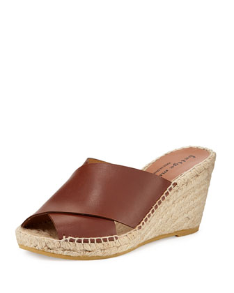 Dijon Crisscross Wedge Sandal, Cuoio