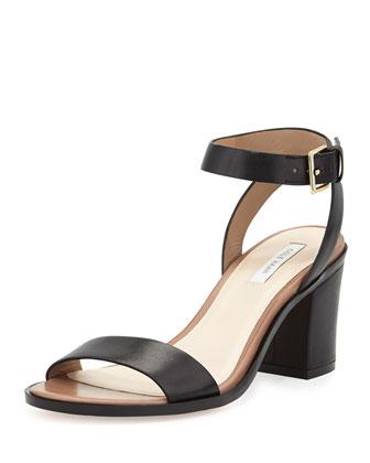 Cambon Block-Heel Sandal, Black