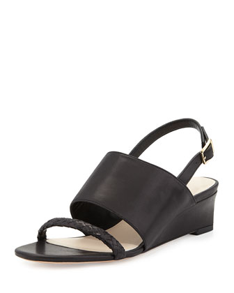 Lise Demi-Wedge Slingback, Black