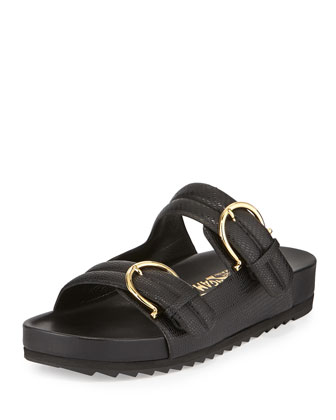 Moro Double-Buckle Sandal, Nero