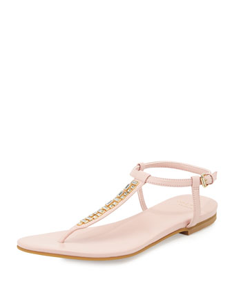 Effie Jewel-Embellished Sandal, Canyon Rose
