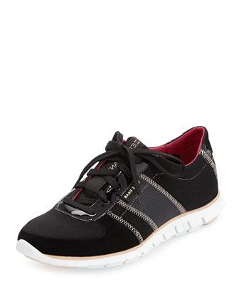 ZeroGrand Neoprene Sneaker, Black/Black Shimmer