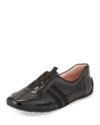Coye Leather Traveler Sneaker, Black