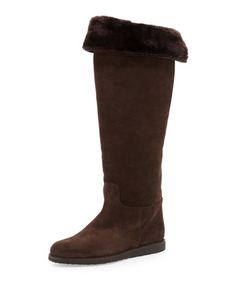 My Ease Suede Knee Boot, Cacao
