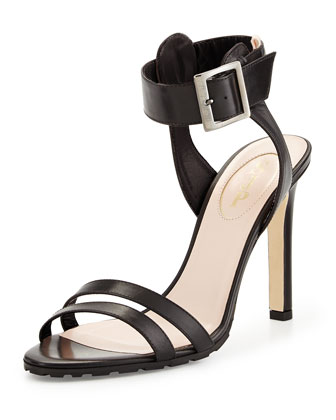 Scout Leather Lug-Sole Sandal, Black