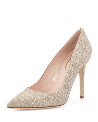 Fawn Pointed-Toe Pump, Gold
