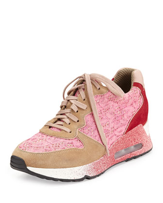 Love Lace Trainer Sneaker, Chamois/Bubble