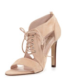 Florencia Tie-Front Sandal, Nude
