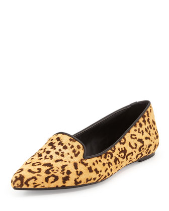Bao Leopard-Print Loafer, Natural/Black