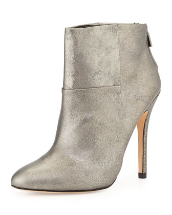 Zen Metallic Classic Ankle Boot, Pewter