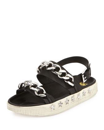 Kristen Chain Sport Sandal, Black