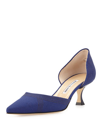 Amatura Linen d'Orsay Pump, Blue