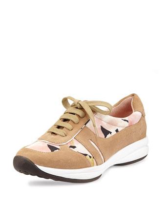Arvella Floral-Print Sneaker, Blossom Multi