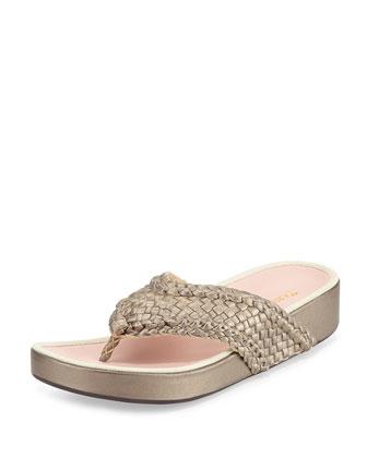 Alvis Woven Flip-Flop Sandal, Quartz