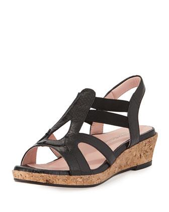 Tene Comfort Gladiator Sandal, Black