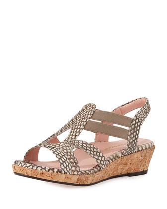 Tene Comfort Gladiator Sandal, Taupe/Pewter
