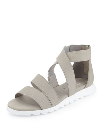 Zone Leather Multi-Strap Sandal, Cloudy