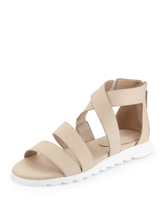 Zone Leather Multi-Strap Sandal, Tan