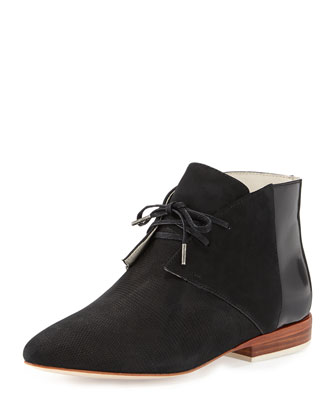 Garcon Leather Ankle Boot, Black