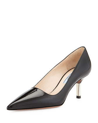 Patent Metal-Heel Pump, Nero