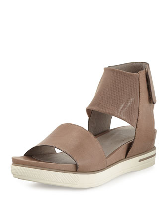 Spree Sport Leather Sandal, Quartz