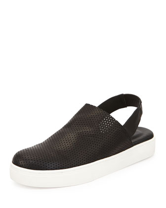 Gogo Perforated Slingback Sneaker, Black