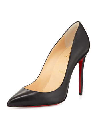 Pigalle Follies Leather Red Sole Pump, Black