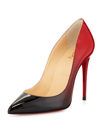 Pigalle Follies Degrade Red Sole Pump, Black/Red