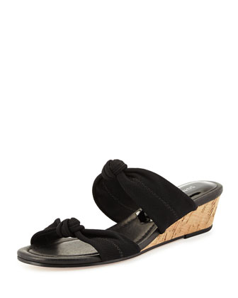 Debi Double-Knotted Sandal, Black