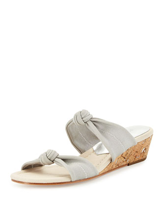 Debi Double-Knotted Sandal, Silver