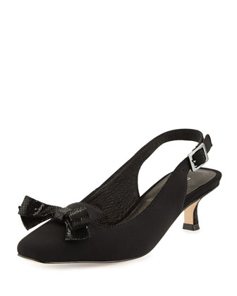 Sofia Kitten-Heel Slingback Pump, Black