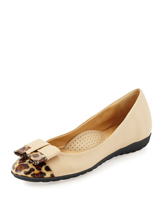 Breena Sport-Bottom Ballet Flat, Camel