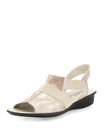 Estelle Strappy Stretch Sandal, Sand