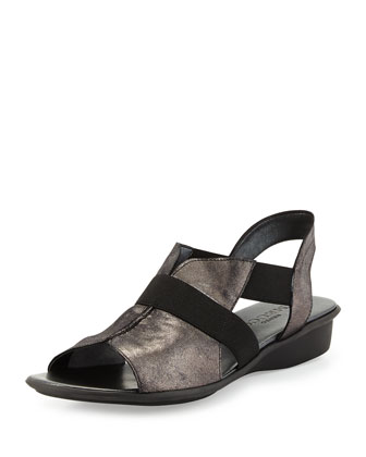 Estelle Strappy Stretch Sandal, Black