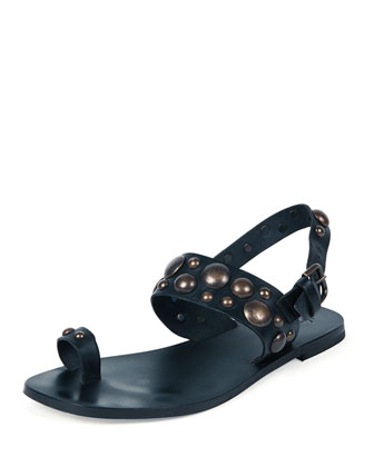 Studded Toe Ring Sandal, Blazer