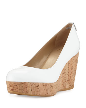 Logoyork Patent Wedge Pump, White