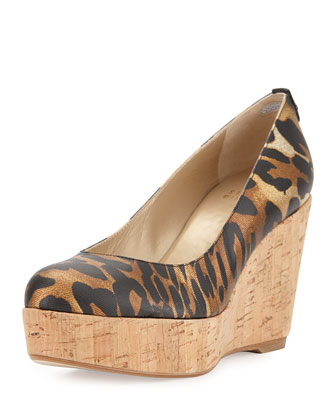 Logoyork Twill Wedge Pump, Jaguar