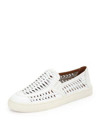 Huarache Slip-On Sneaker, White