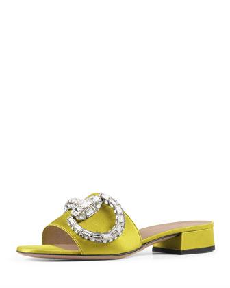 Crystal Horsebit Sandal Slide, Cedar (Cedro)