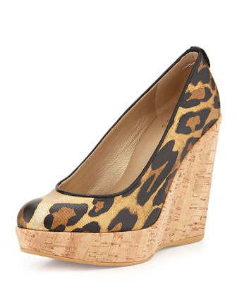Corkswoon Twill Wedge Pump (Made to Order), Jaguar