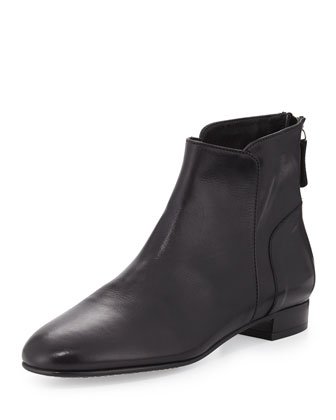 Myth Leather Ankle Boot, Black