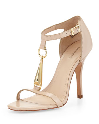 Yolanda Vachetta Leather Sandal, Nude