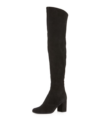 Babies Suede Over-the-Knee Boot, Black