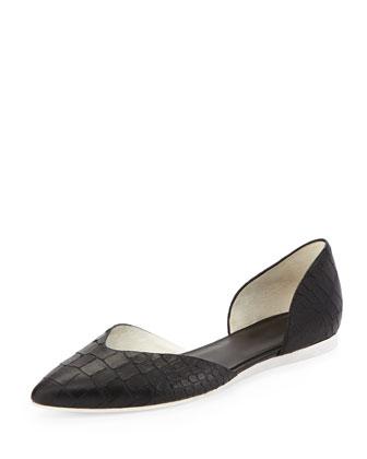 Tara d'Orsay Ballerina Flat, Black