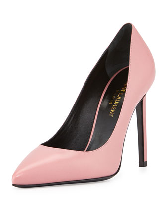 Paris Leather Pump, Dark Rose