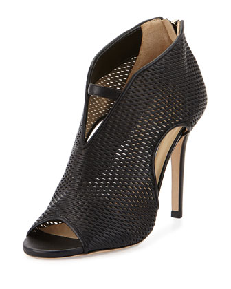 Tamali Perforated Napa Bootie, Black