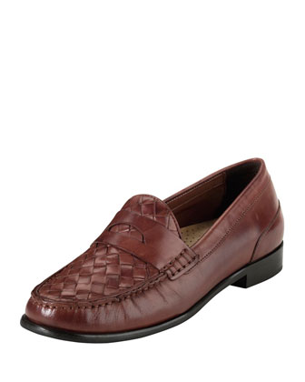 Laurel Woven Leather Moccasin, Sequoia