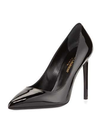 Paris Patent Leather Pump, Black