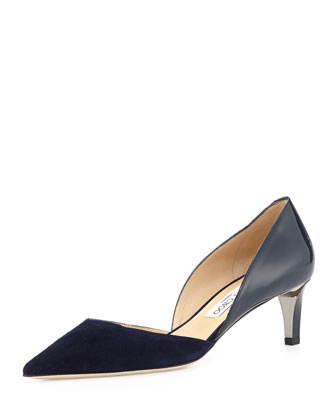 Darylin Two-Tone d'Orsay Pump, Navy