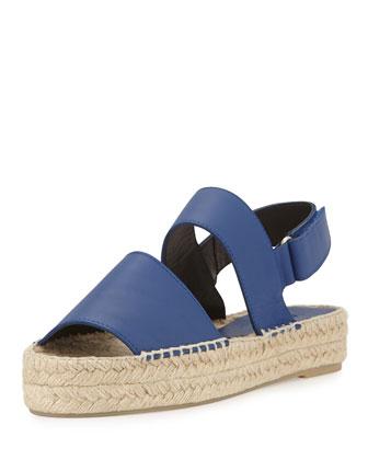 Emilia Platform Espadrille Sandal, Blue